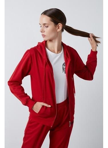 Lela Lela Kapüşonlu Kadın Sweat 5413001 Kırmızı